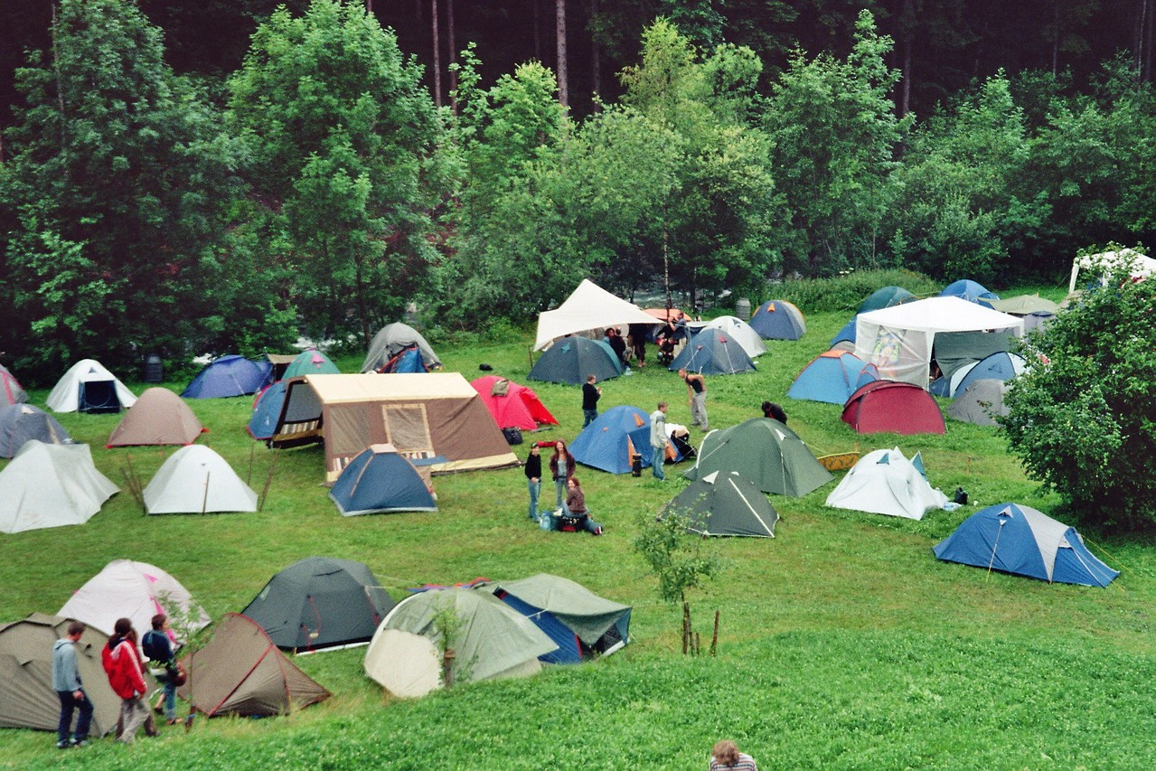 Pod namiotem w górach
